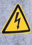 Danger, sign high voltage poster