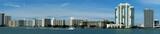 Miami art deco buildings and skyline, U.S.A. poster