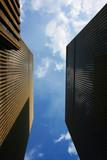 Highrise buildings at Rockefeller center poster
