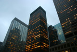 Highrise buildings at dusk in midtown Manhattan, New York poster