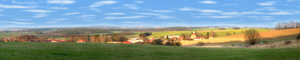 Landscape of a czech county