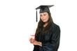 Young Woman Graduate Receiving Diploma 8