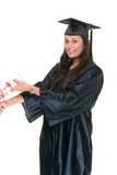 Young Woman Graduate Receiving Diploma 5