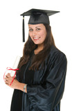 Young Woman Graduate Receiving Diploma 7