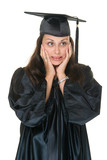 Very Excited Young Woman Graduate 3 poster