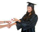 Young Woman Graduate Receiving Diploma 6