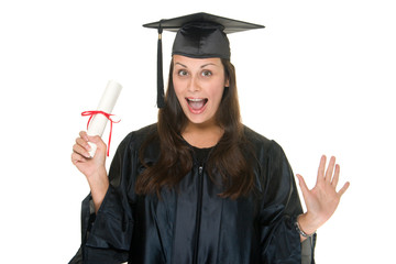 Woman Graduate with Diploma 11