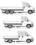 Delivery Van Truck - Layout for presentation poster