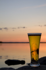 a cold beer in the light of the northern midnight sun