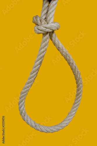a rope for hanging a bad man