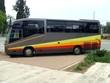 Bus. Bus in parking area/ parking lot/ car park