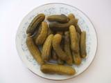 Pickles. Cornichons. Gherkins. Preservatives. Appetizer poster