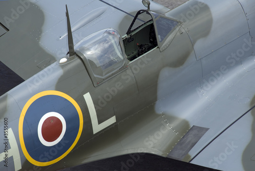 The cockpit of Spitfire fighter plane.