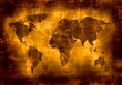 Quadro grunge map of the world