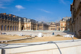 Courtyard of the Palace of Versailles, under repair, France poster