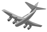 jet plane overhead poster