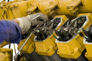 Gas engine maintenance