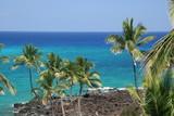 Pristine Waters and Volcanic Lava of Hawaii Kona Beach poster