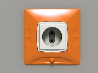 orange electrosocket (3D generated image)