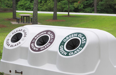 A public recycling center.