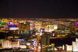 Las Vegas, Nevada, at night in USA - Fine Art prints