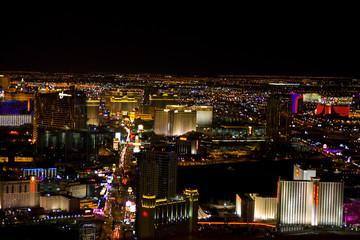 Las Vegas, Nevada, at night in USA