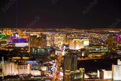 Poster Las Vegas, Nevada, at night in USA