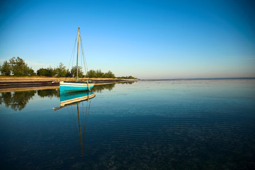 A landscape view of the ocean at Pemba,