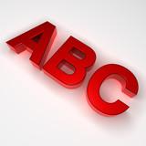 ABC Buchstaben poster