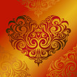 Tribal art heart-shape