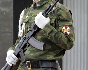 Soldier with submachine gun 3