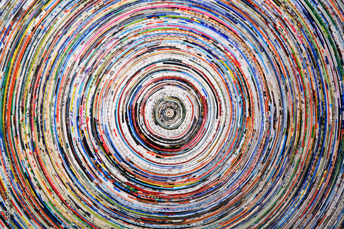 Fototapeta background of a colorful spiral of wrapped paper
