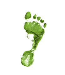 Light green footprint