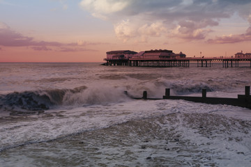 Waves on the beach at Cromer