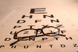 Eye Chart and Glasses poster