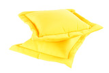 Just a simple Yellow Pillow in a white background poster