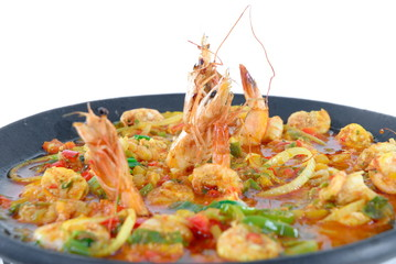 Shrimp stew (Brazilian typical food) .