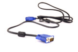 Unplugged Screen - Monitor power cable connector . poster