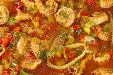 Shrimp stew (Brazilian typical food aka Moqueca de Camarao)