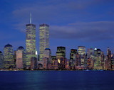 New-York city and World Center at night from Hudson river