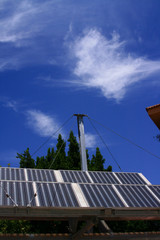 Planta solar fotovoltaica de un grupo de viviendas