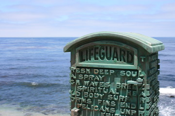 Lifeguard call box, La Jolla California.