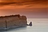 Sunset over Sidari at Corfu island, Greece poster