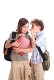 Schoolgirl and schoolboy poster