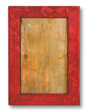 old rough wood frame on white background - XXL size poster