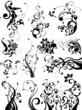 Floral design elements Цветочные элементы в векторе 1eps + jpg 10 Mb RAR.