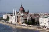 Hungarian parliament - famous landmark poster