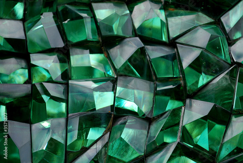 green color crystal in the gardens