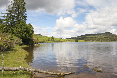 A peaceful, serene Scottish Loch scene