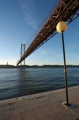 25th April Bridge over the river Tagus in Lisbon Portugal,